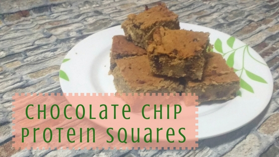 Chocolate Chip Protein Squares
