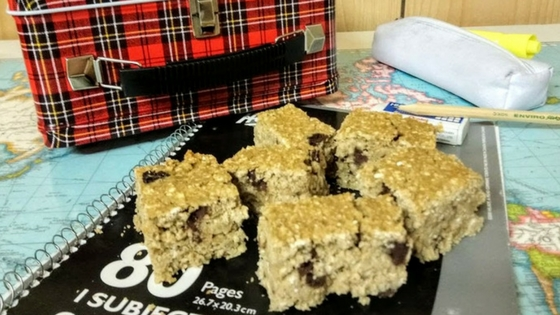 Oatmeal Chocolate Chip Chickpea Blondies