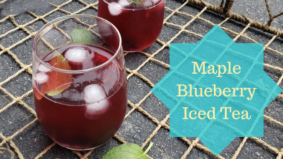 Maple Blueberry Iced-tea