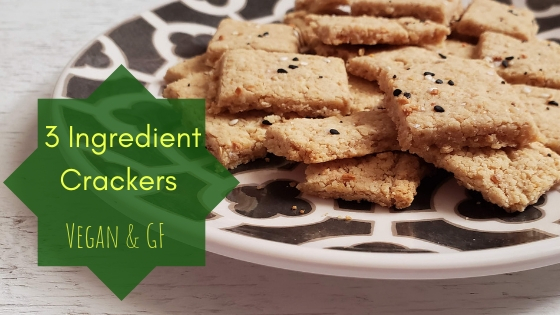 3 Ingredient Crackers- Vegan & GF