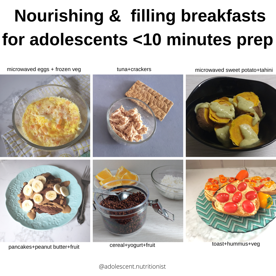 Food combinations for under 10 minute prep breakfasts