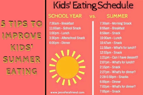 5 Tips to Improve Kids' Summer Eating