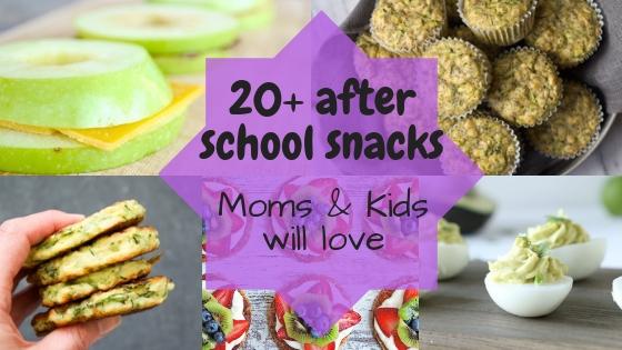 20+ Easy After School Snacks for teens & tweens