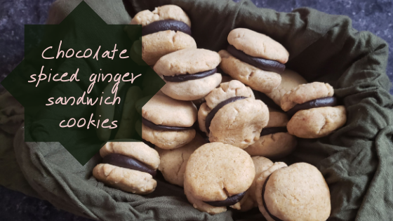 Chocolate Spiced Ginger Sandwich Cookies